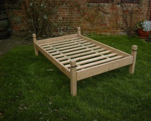 Collapsible campaign beds from £170 for softwood small double